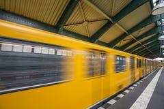 Schonhauser Allee Platform of Berlin Stock Image