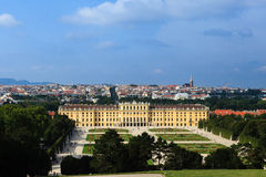 Schonnbrunn Palace. View from Gloriette alley. Wienn, Austria, summer Royalty Free Stock Image