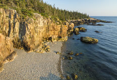 Schoodic-Halbinsel Rocky Cliffs Stockfoto