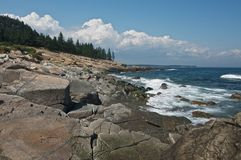 Schoodic Point, Maine Royalty Free Stock Photo