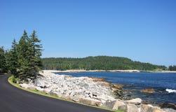 Schoodic punkt Maine zdjęcia stock