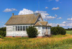 Schoohouse. Abandoned schoolhouse in rural Saskatchewan Stock Images