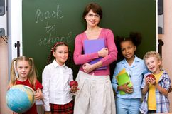At school Stock Images
