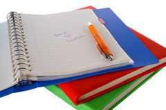 School. Back to school, books isolated on a white background Stock Photography