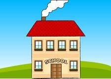 School. Happy school in the green nature Royalty Free Stock Photo