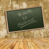 School. Photo of abstract interior with school blackboard royalty free stock images