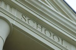 School. Engraved Into Stone Royalty Free Stock Images