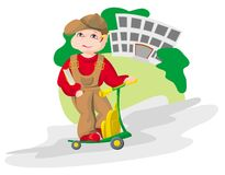 School_2. The child directed on a road on lessons, employment(occupation) at school royalty free illustration