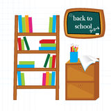 School. Back to school illustration with School element, vector image Royalty Free Stock Photos