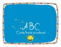 School. Come back to school-class board with girl smile Royalty Free Stock Photography