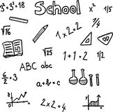 School. Theme and motive on white background. vector image Stock Images