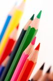 School. Colorful crayons stock photo