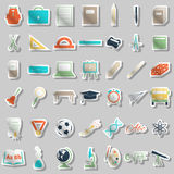 School accessories icons set Stock Photography
