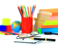 School accessories.Isolated Royalty Free Stock Image