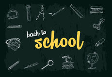 School accessories. Pictures collection Royalty Free Stock Photo