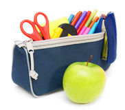 School accessories . School accessories on a white background Stock Photo