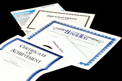 School Achievement documents Royalty Free Stock Image