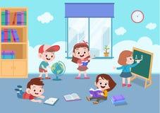Free School Activity Teacher Teach Vector Illustration Stock Image - 157365341