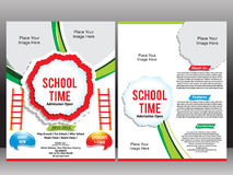 School Admission Flyer Template Royalty Free Stock Photos