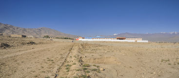 School in Afghanistan. New school near Kabul in Afghanistan stock image