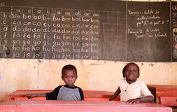 School in Africa stock photo