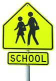 School Ahead. Sign stock photo