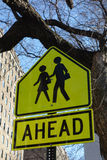 School Ahead Sign Royalty Free Stock Photo