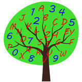 School alphabet tree Royalty Free Stock Image