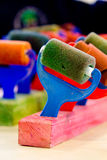 School art lesson equipment Stock Photo