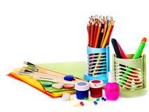 School art supplies royalty free stock image