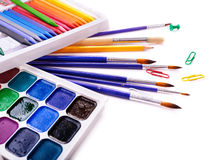 School art supplies Stock Photos