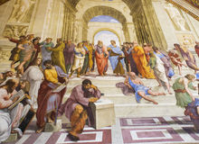 The School of Athens-Vatican museum Stock Photography