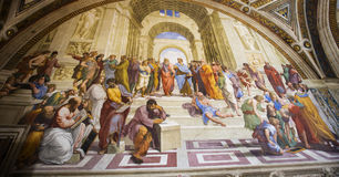 The School of Athens-Vatican museum Royalty Free Stock Photography