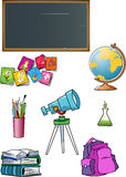 School attributes Royalty Free Stock Photography