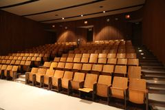 School auditorium empty. Design for special occasion and a great lighting Royalty Free Stock Photography