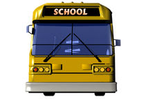 School autobus. Yellow School autobus in front Stock Photo