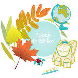 School autumn background Royalty Free Stock Images