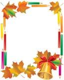 School Autumn Frame Stock Photo