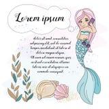 School Autumn Sea Underwater Vector Illustration Set MERMAID PHONE vector illustration