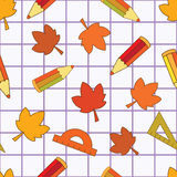 School autumn seamless Royalty Free Stock Photo