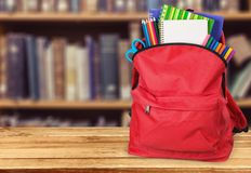 School. Back bag backpack background  educational Stock Images