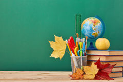 School background. Back to school. stock image