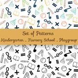 School and kindergarten background royalty free illustration