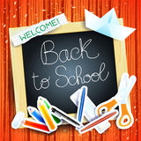 School background with blackboard Royalty Free Stock Photo