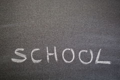 School Background of a Blackboard Stock Photography