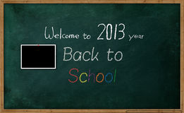School background. The school board with picture and text royalty free illustration