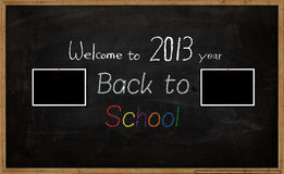 School background. The school board with picture and words royalty free illustration