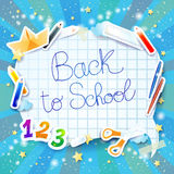 School background with bubble Royalty Free Stock Image