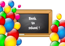 School background with colorful balloons Stock Image