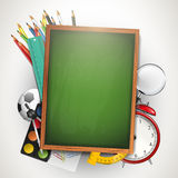 School background with copyspace Stock Image